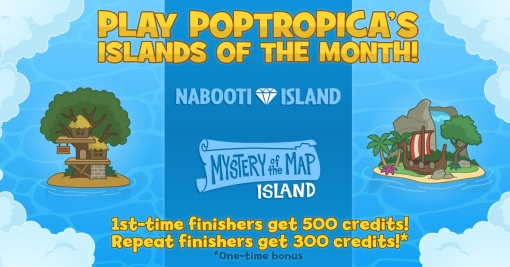 Poptropica May Islands of the Month Nabooti and Mystery of the Map
