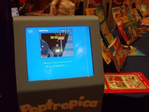 Poptropica on a standing touchscreen 2