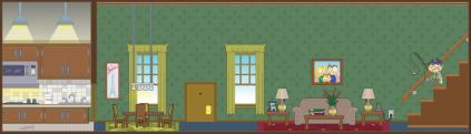 Practice living room scene