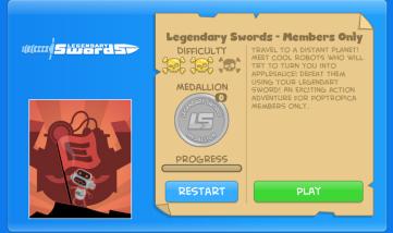 legendary swords screen