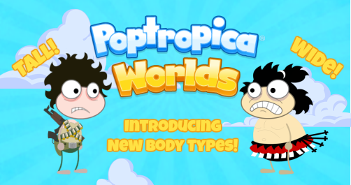 Poptropica Worlds - New Body Types!