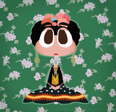 ArtisticAsianBunny - Frida Kahlo but she's a Poptropican