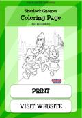Sherlock Gnomes Coloring Page