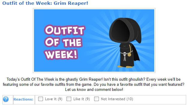 Outfit of the Weak Grim Reaper