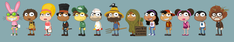 24 Carrot Island Worlds characters