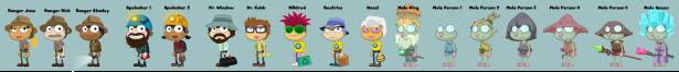 Crisis Caverns characters