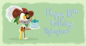 """Happy 10th Birthday Poptropica!"""