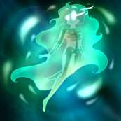 """""""Green Wisps- Chi (B-Day gift for MissEligon)"""""""