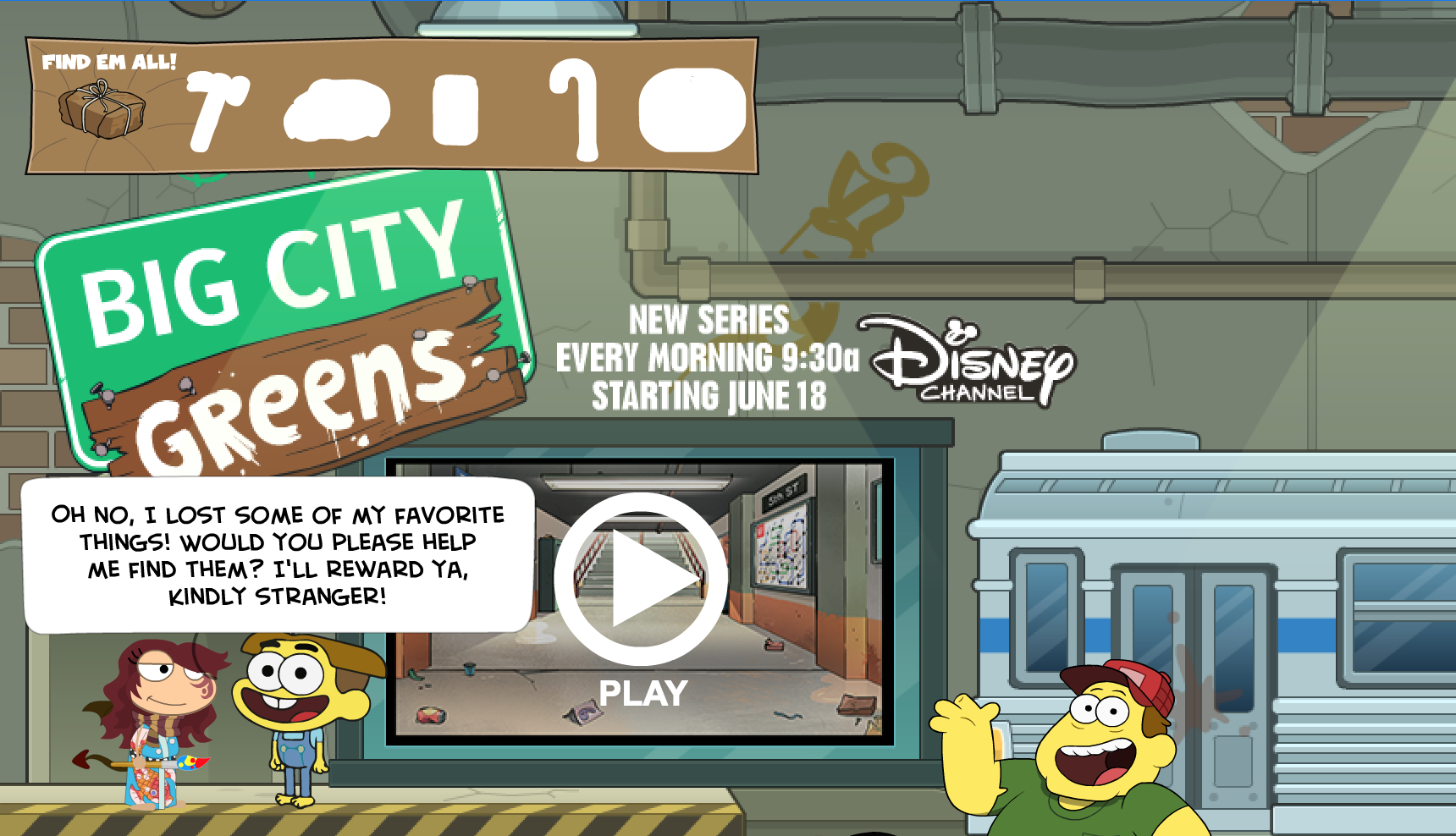 Get out and paint the big city with greens! – Poptropica
