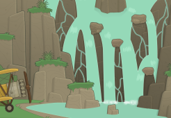 Blue Nile Falls in Poptropica