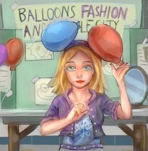 """Balloon experiment Girl"""
