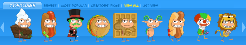 Poptropica costumes July 2018