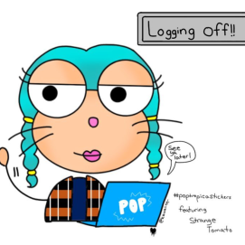 """Logging off!!"" by kawaii.qq_"