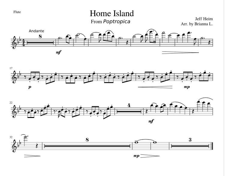 happyclonetrooper - Home Island Theme Flute Arrangement