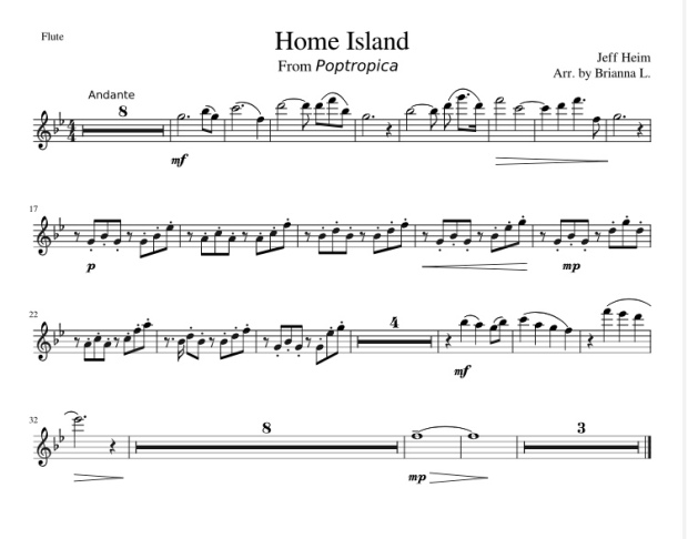 happyclonetrooper - Home Island Theme Flute Arrangement