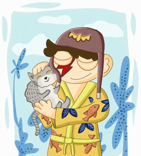 Boy & Cat