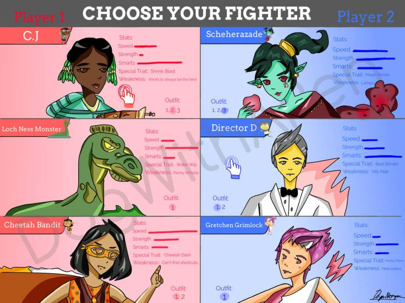 Maroon Raptor - Poptropica Choose Your Fighter