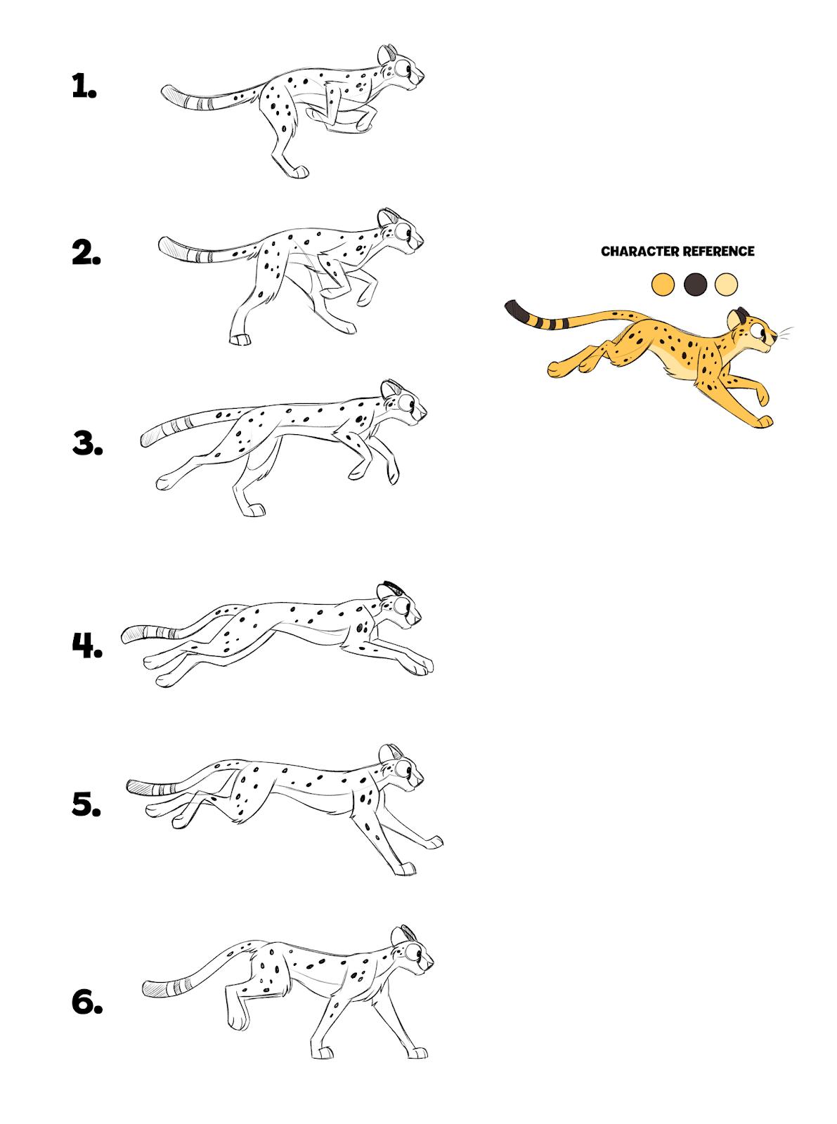 Cheetah Poses